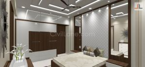 Two Color Bed and Wardrobe Furniture Design Mumbai