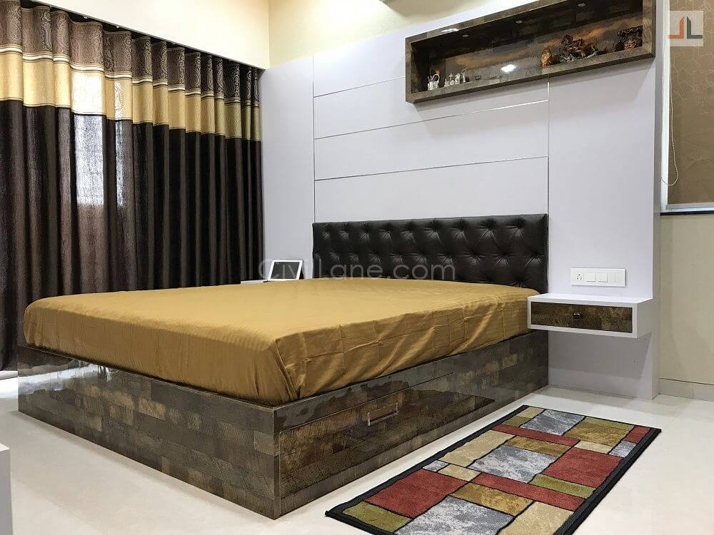 Designer Bed With Panelling Side Opening Storage 2019