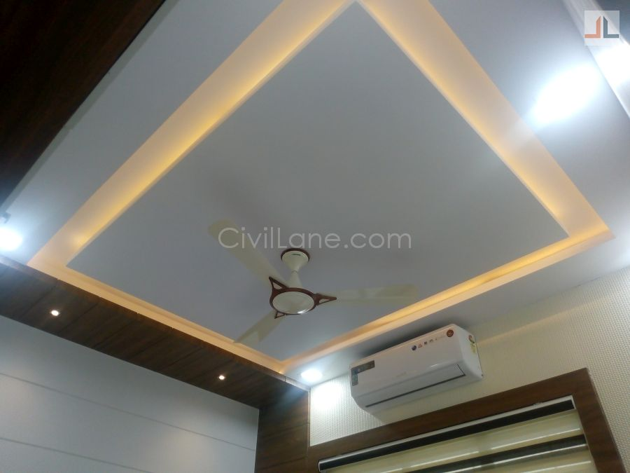 Simple False Ceiling Design For Bedroom - CivilLane