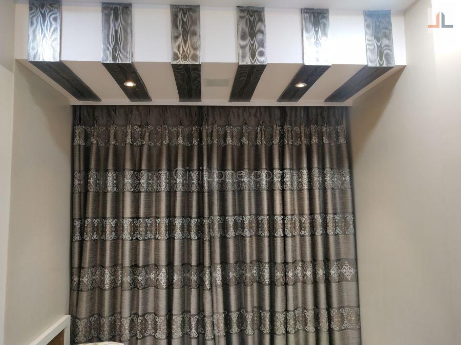 Wooden rafter false ceiling window balcony area