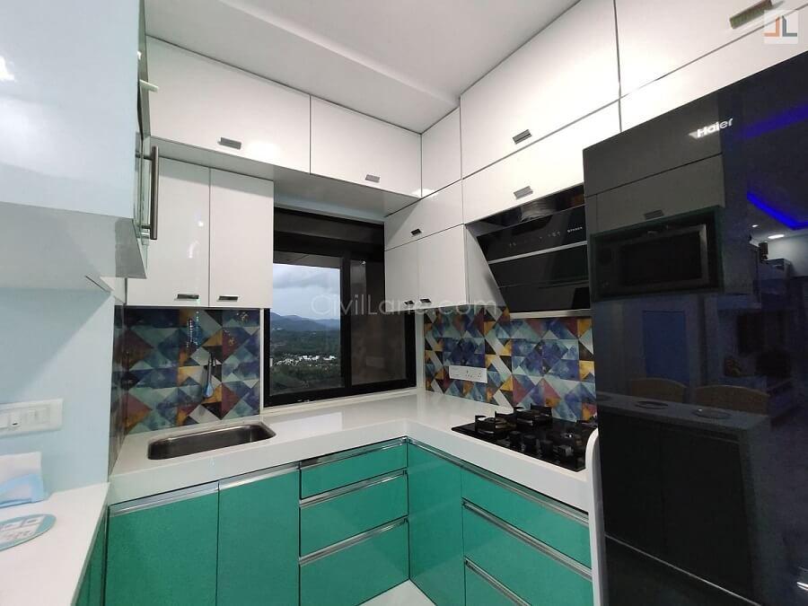 L-Shaped Kitchen Nano White Platform