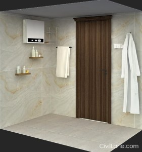 3D Isometric view bathroom accessories