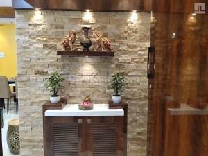 Stone cladding wall highlighter design ideas