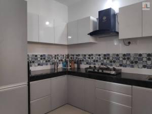 Pebble Grey Laminate Finish Modular Kitchen Design Handewadi Pune (1)