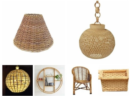 Cane furniture decor