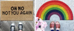 Doormats with personality