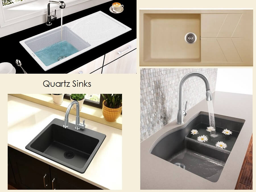 Types Of Quartz Kitchen Sinks With Range Of Colors