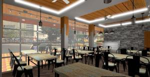 3D Bakery Shop Interior Design With Facade (2)