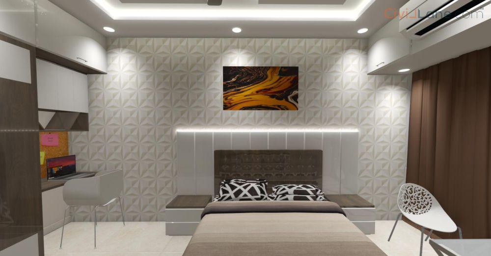 3D Bedroom Interior Design Mumbai
