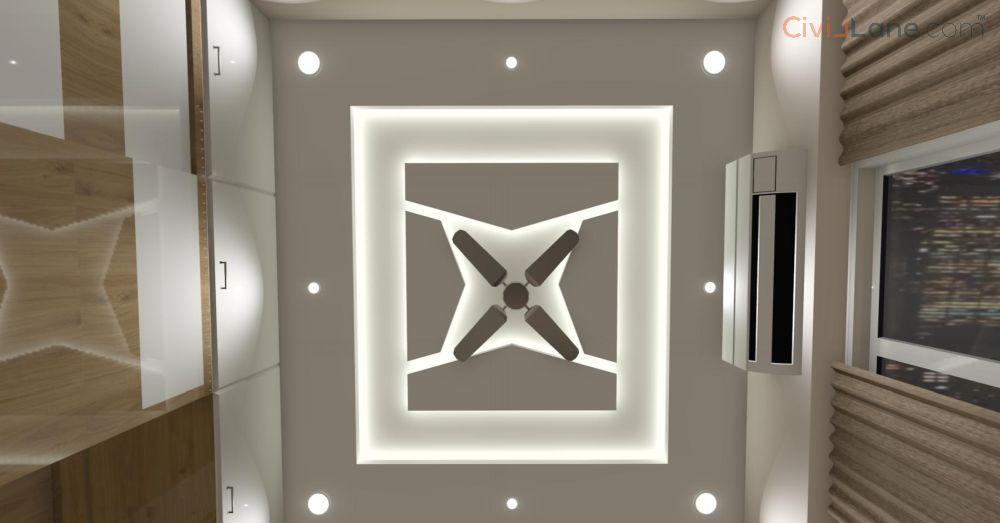 3D Bedroom False Ceiling Design