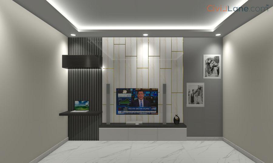 TV Unit Design 10 Feet 10081-1