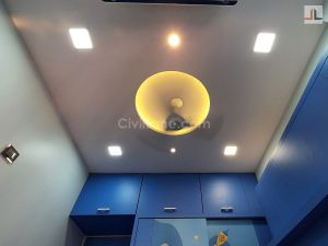 Kids Room False Ceiling Design Round Shape