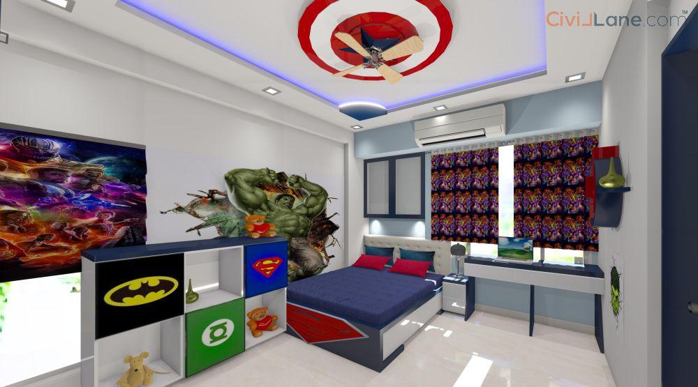 Kids Bedroom Avenger Theme Design
