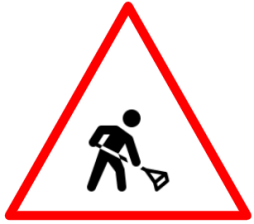 Mean at work sign