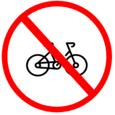 "Symbol image of ""Cycle Prohibited"" sign"