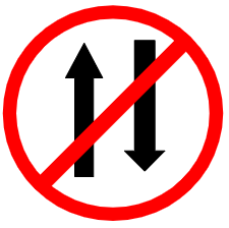"Symbol image of ""Vehicle Prohibited in Both Direction"" sign"