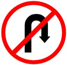 """Symbol image of """"U-turn Prohibited"""""""