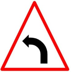 Left hand curve sign
