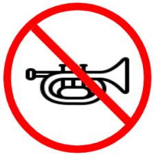 "Symbol image of ""Horn Prohibited"" sign"
