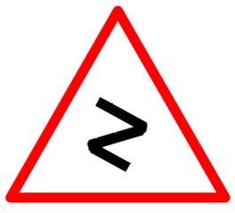 "Cautionary or Warning road  Signs or traffic signs - Series of Bends || symbolic image of ""Series of Bends"" Sign"