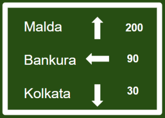 "Informatory Road Signs or traffic signs - Destination || Symbolic image of ""Destination"" sign 