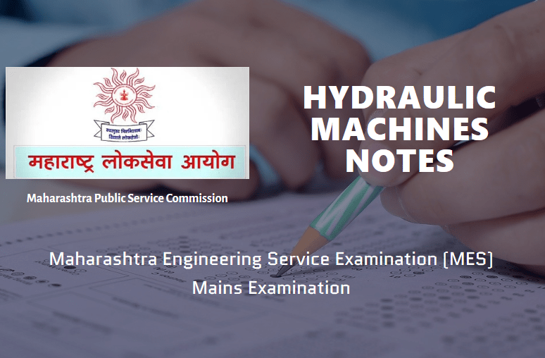 Hydraulic Machines Notes MES Exam