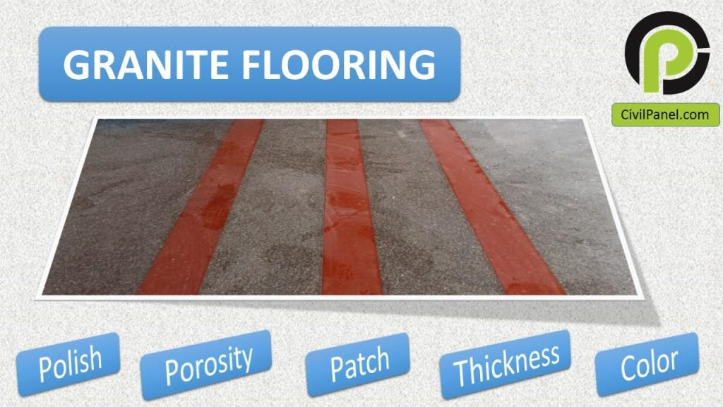 Granite Flooring : How to check quality of Natural stone Granite at site