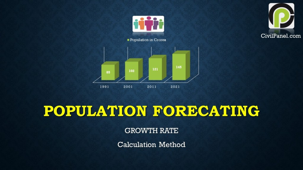 POPULATION FORECATING Growth rate calculation in civil engineering