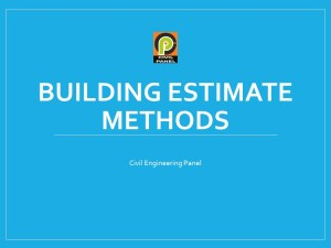 Cost Estimation Methods in Construction