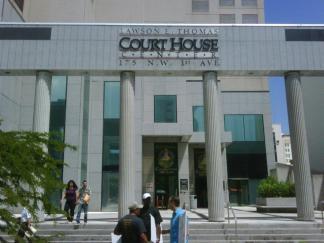 Family Law Reform Demonstration at Lawson E. Thomas Courthouse Miami Florida 1