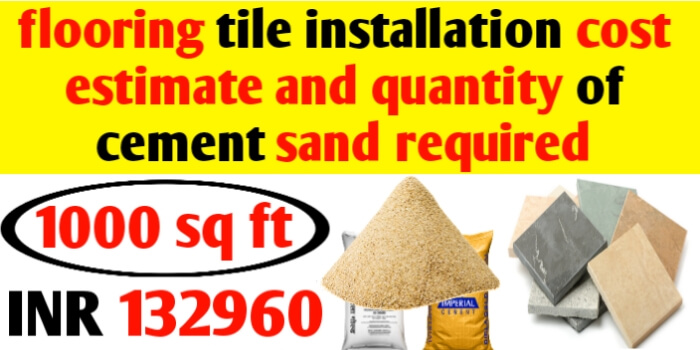 tile flooring cost estimation and