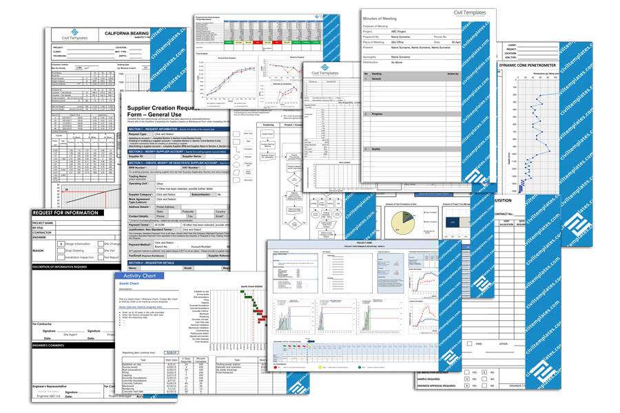 Other templates available would include those for a software configuration management plan (scmp) and a software quality. Civil Engineering Templates Project Management Document Templates