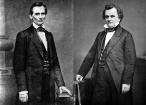 Candidates Abraham Lincoln and Stephen A. Douglas | Image Credit: TheModerateVoice.com