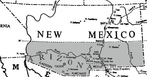 The Confederate Territory of Arizona | Image Credit: CivilWarDailyGazette.com