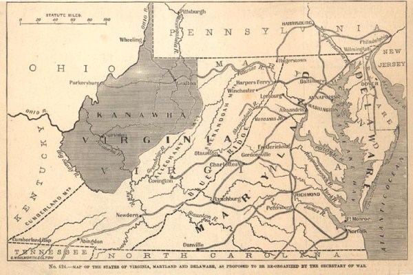 Proposed State of Kanawha | Image Credit: CivilWarDailyGazette.com