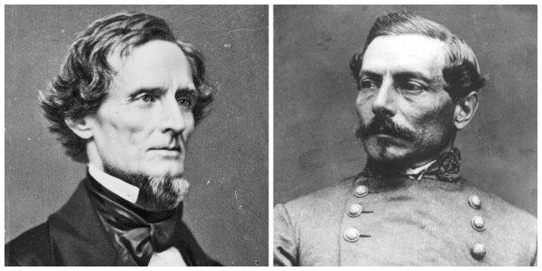Pres. Jefferson Davis and Gen. P.G.T. Beauregard | Image Credit: Wikimedia.org