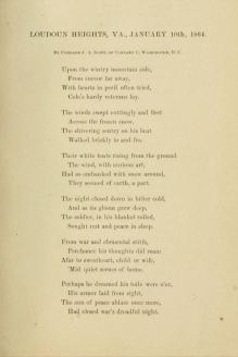 Loudoun Heights, by John A. Scott, Co. C, Cole's Cavalry