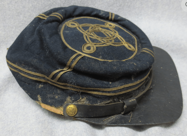 Old black headgear