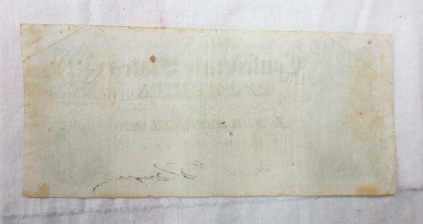 Back of a $500 Confederate note