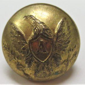 Engraved gold cufflink