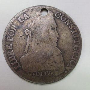 Bolivian silver coin