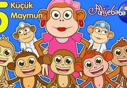 Beş Küçük Maymun – Bebek Şarkıları – Çocuk Şarkıları