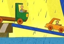 Çocuklar için Arabalar- Feribot