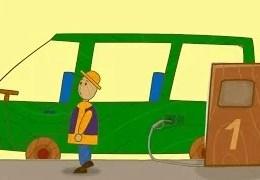 Çocuklar için arabalar – Benzin istasyonu