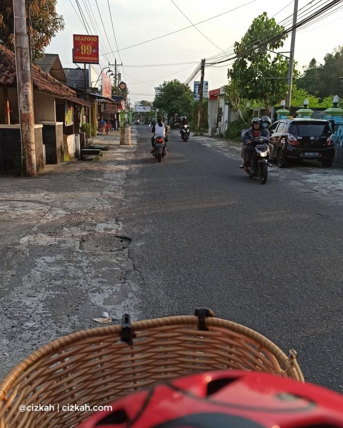 Sepeda awal Corona di Jogja