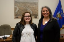 Catherine Emmanuelle and I after a city council legislative meeting on Tuesday