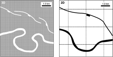 Sketches indicating the advantages of 3D over 2D seismic reflection data (see Cartwright & Huuse, 2002).