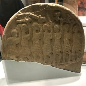 Lindisfarne Stone, the Viking raid at Lindisfarne
