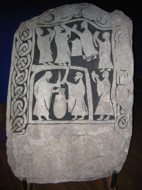 A Drinking Scene On An Image Stone From Gotland, Swedish Museum Of National Antiquities, Stockholm.