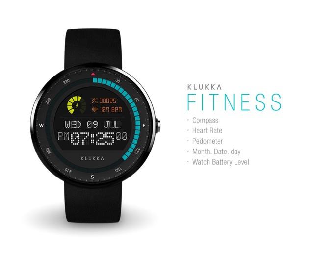 【圖二:運動款 Fitness 整合智慧型手錶功能,錶面上可顯示計步以及心跳計算】.jpg